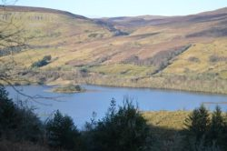 Glenade lake and valley Landscape