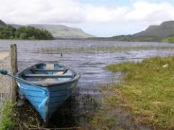 Glenade lake and valley Leitrim West of Ireland